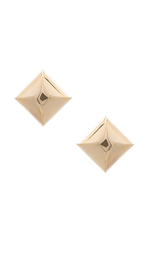 Large Metal Stud Clip Earrings