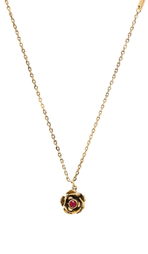 Marc Jacobs Small Flower Pendant Necklace in Metallic Gold