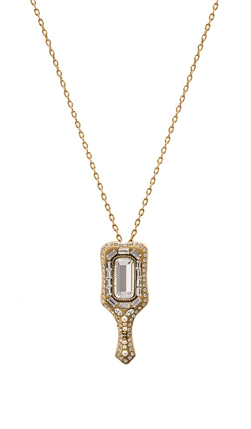 Marc Jacobs Charms Mirror Necklace in Metallic Gold