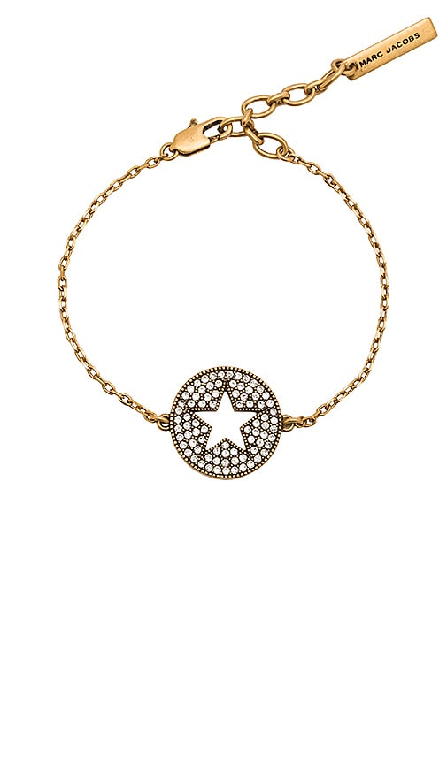 Marc Jacobs Charms Star Bracelet in Metallic Gold