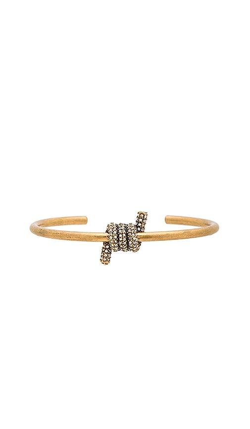 Marc Jacobs Pave Twisted Cuff in Metallic Gold