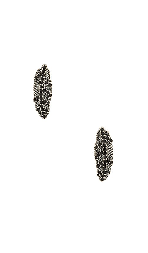 Marc Jacobs Dark Plumes Stud Earrings in Metallic Silver
