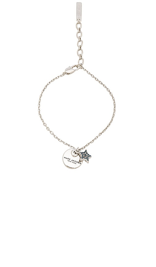 Marc Jacobs MJ Coin Bracelet in Metallic Silver