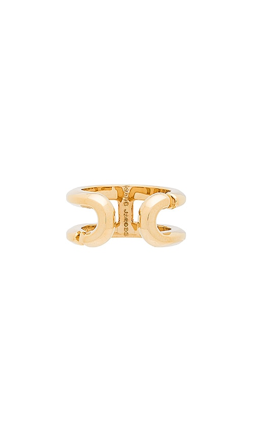 Marc Jacobs Icon Ring in Metallic Gold