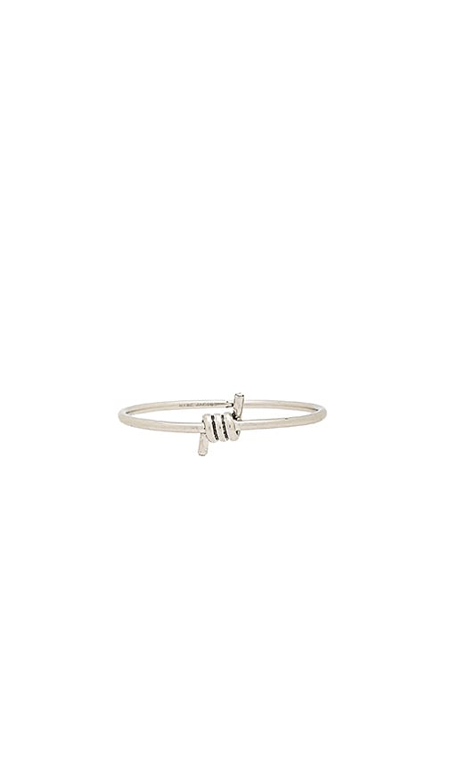 Marc Jacobs Twisted Hinge Cuff in Metallic Silver