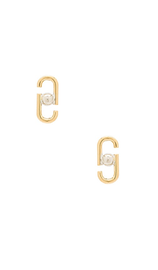 Marc Jacobs Icon Stud Earrings in Metallic Gold