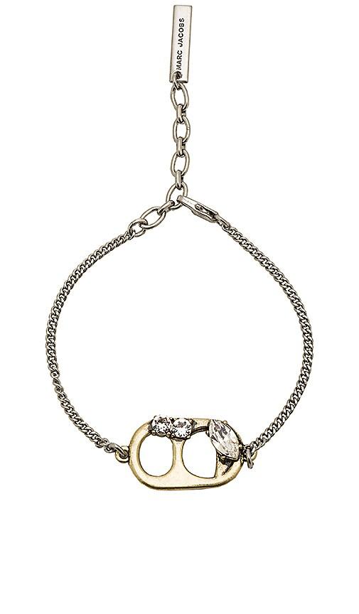 Marc Jacobs Soda Lid Chain Bracelet in Metallic Gold