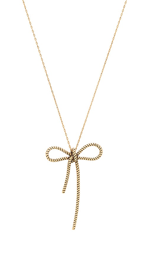 Rope Bow Pendant Necklace