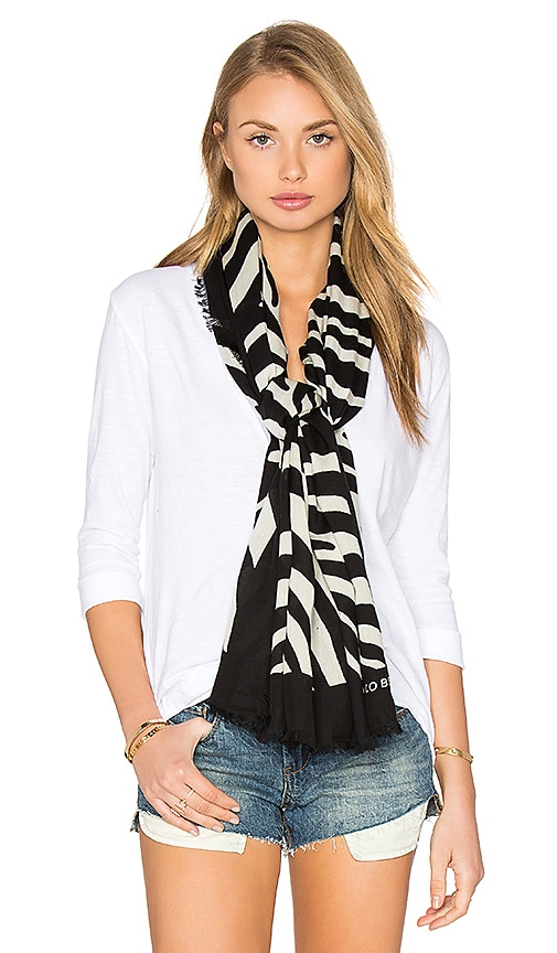 Marc Jacobs Zebra Scarf in Black & White