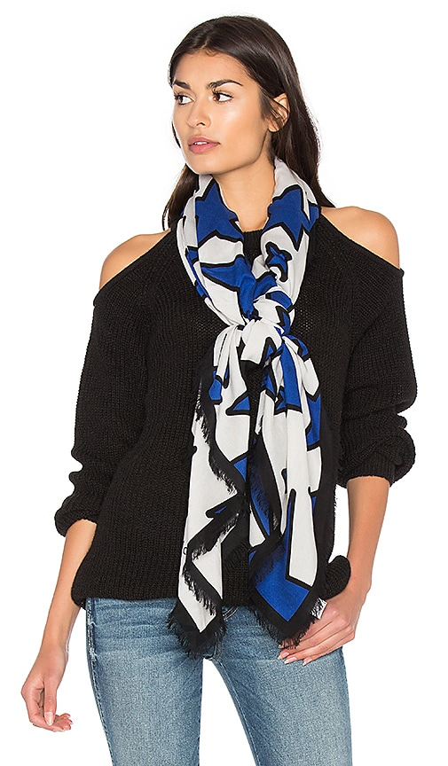 Marc Jacobs Stars Scarf in White