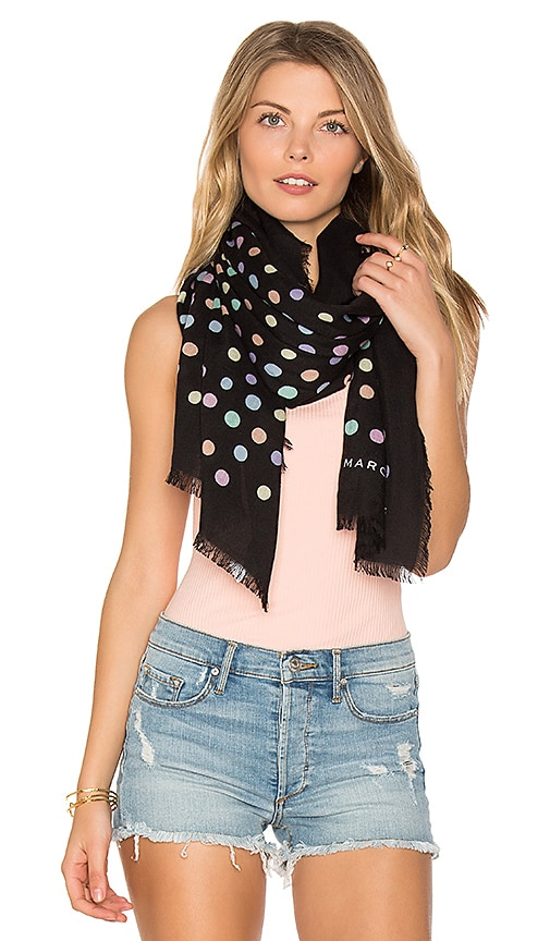 Marc Jacobs Pastel Dot Large Scarf in Black