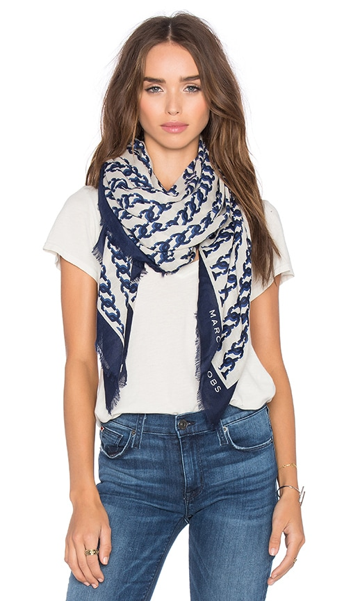 Marc Jacobs J Marc Scarf in English Blue Multi