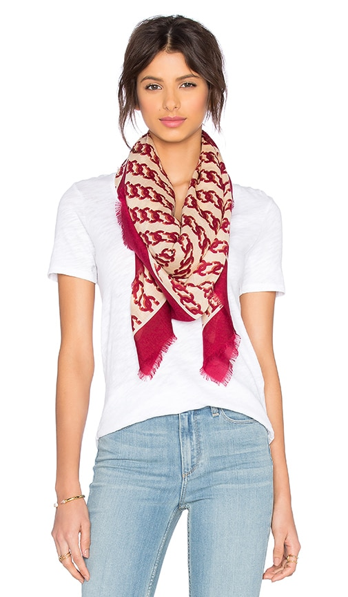 Marc Jacobs J Marc Scarf in Tawny Port Multi