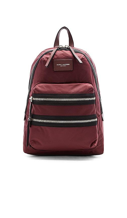 Marc Jacobs Nylon Biker Backpack in Rubino