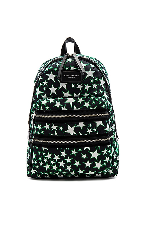 Marc Jacobs Flocked Star Printed Biker Backpack in Black