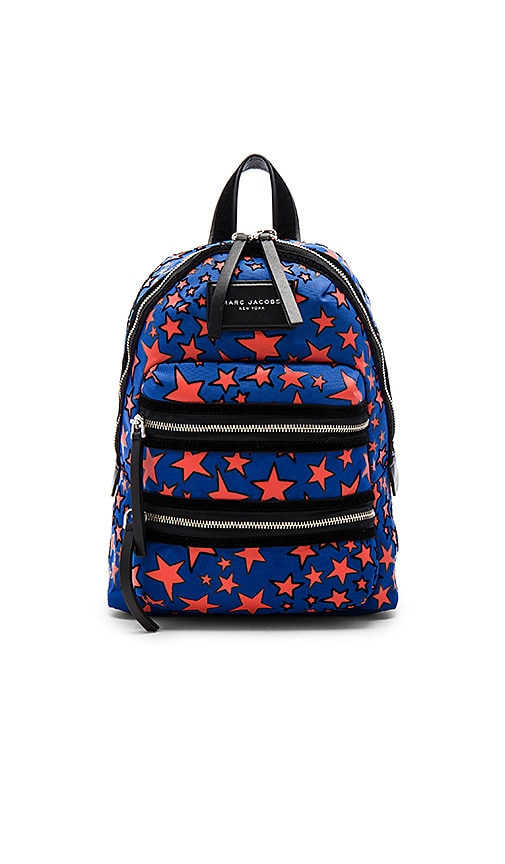 Marc Jacobs Flocked Star Printed Biker Mini Backpack in Blue