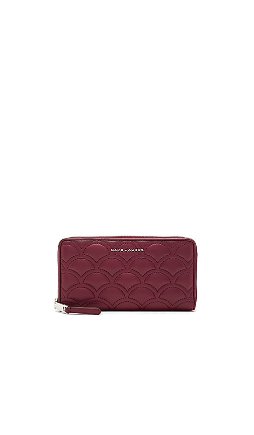 Marc Jacobs Matelasse Standard Continental Wallet in Burgundy