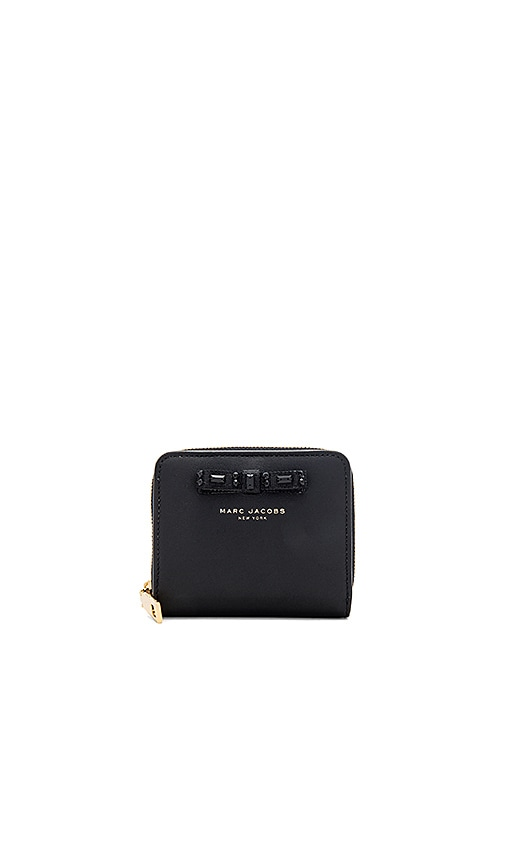 Marc Jacobs Bow Lil Zip Around Wallet in Black