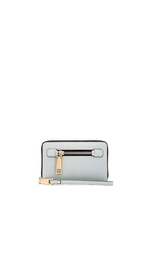 Marc Jacobs Gotham Zip Phone Wristlet in Slate
