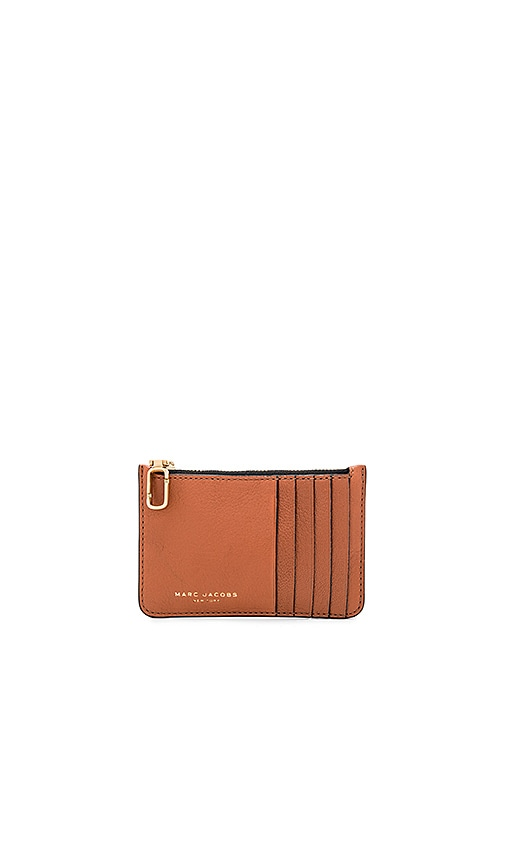 Marc Jacobs Perry Card Zip Wallet in Cognac