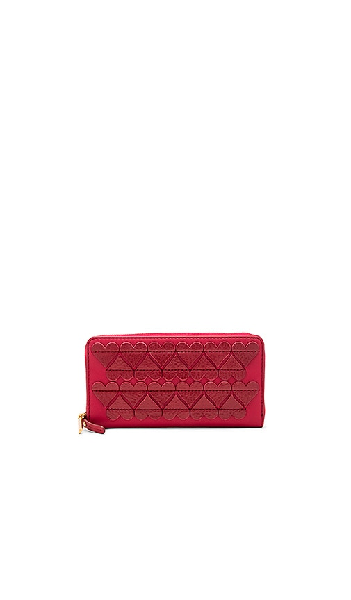 Marc Jacobs Stitched Heats Standard Continental Wallet in Red