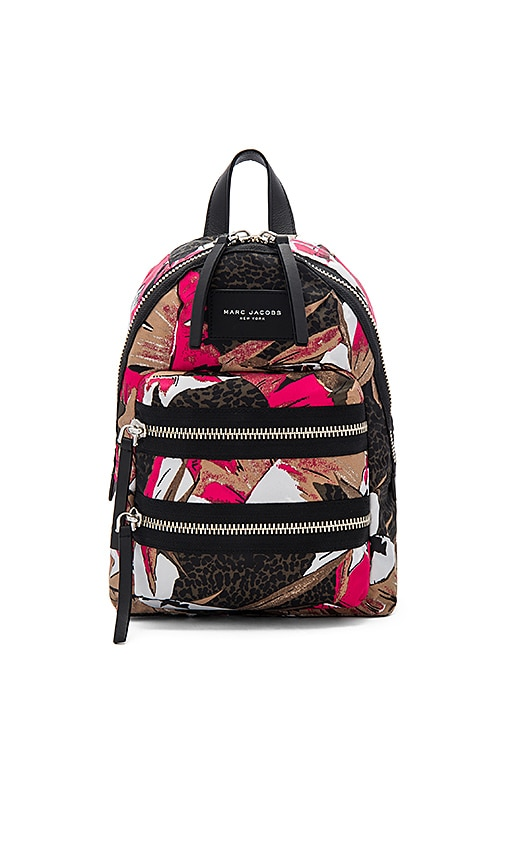 Palm Printed Biker Mini Backpack