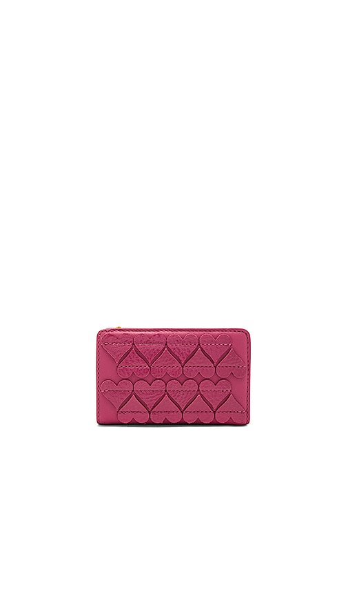 Marc Jacobs Stitched Hearts Compact Wallet in Pink