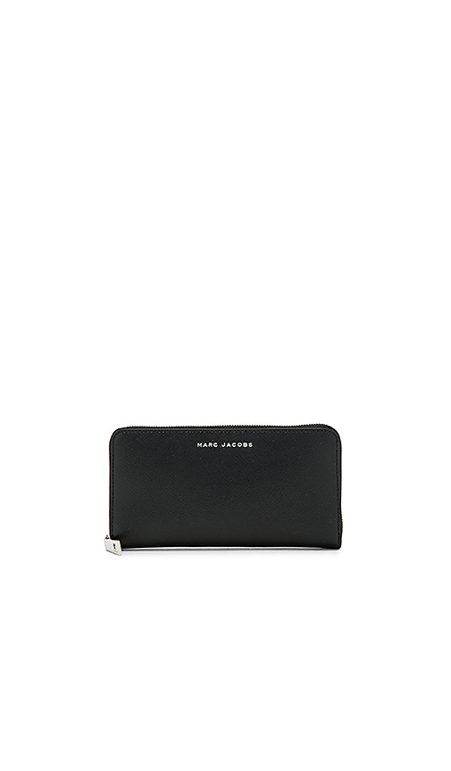 Marc Jacobs Saffiano Tricolor Standard Continental Wallet in Black