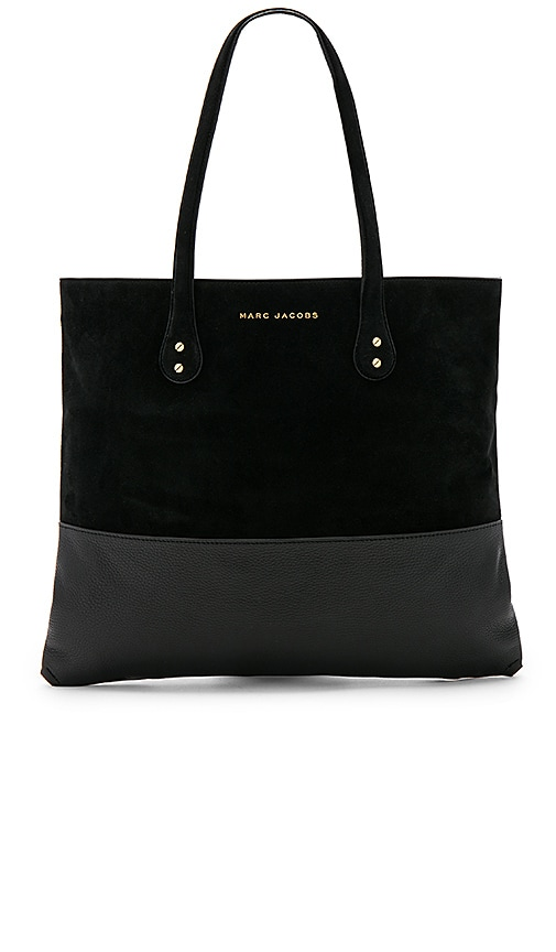 Marc Jacobs Suede Wingman Tote in Black