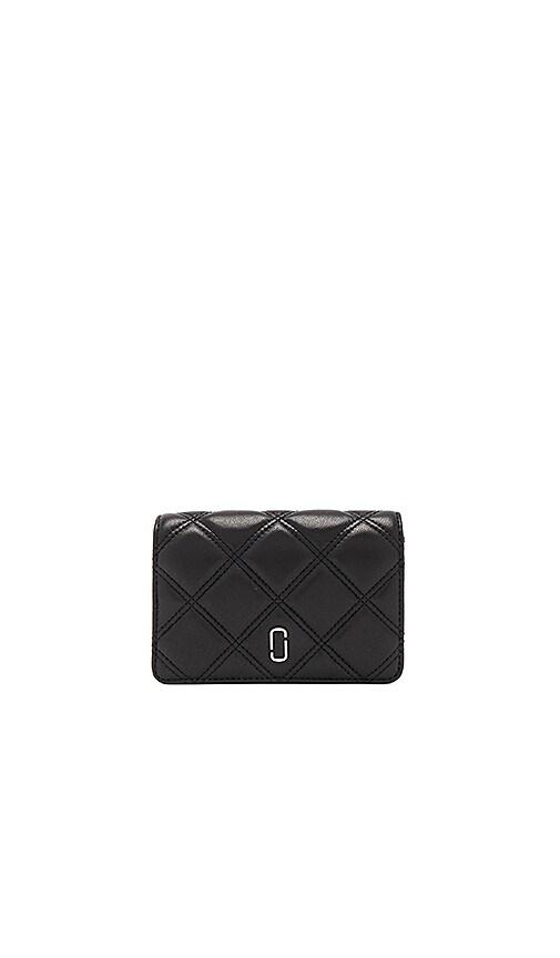 Marc Jacobs Double J Matelasse Compact Wallet in Black