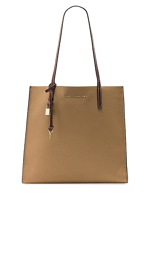 Marc Jacobs The Grind Colorblocked Tote in Tan