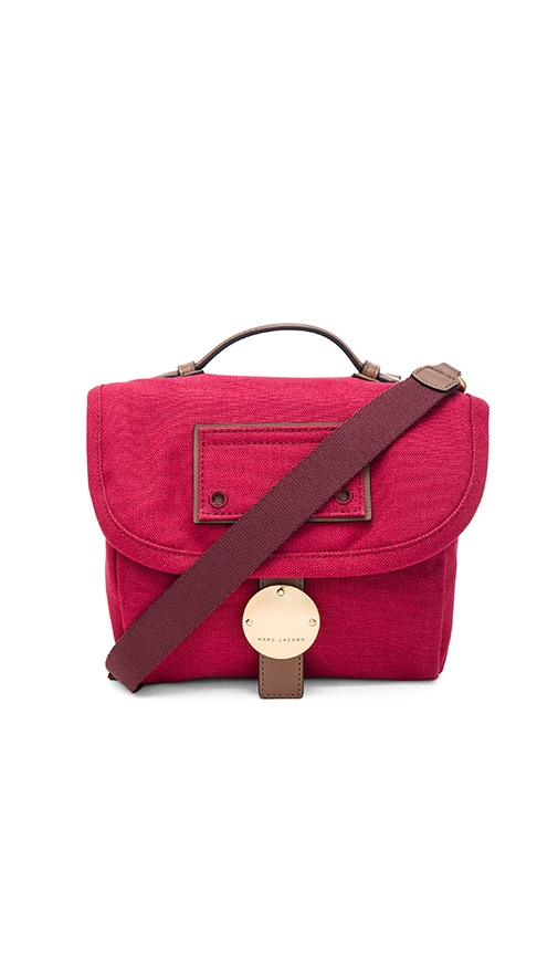 Marc Jacobs Canvas & Leather Camera Bag in Merlot Multi