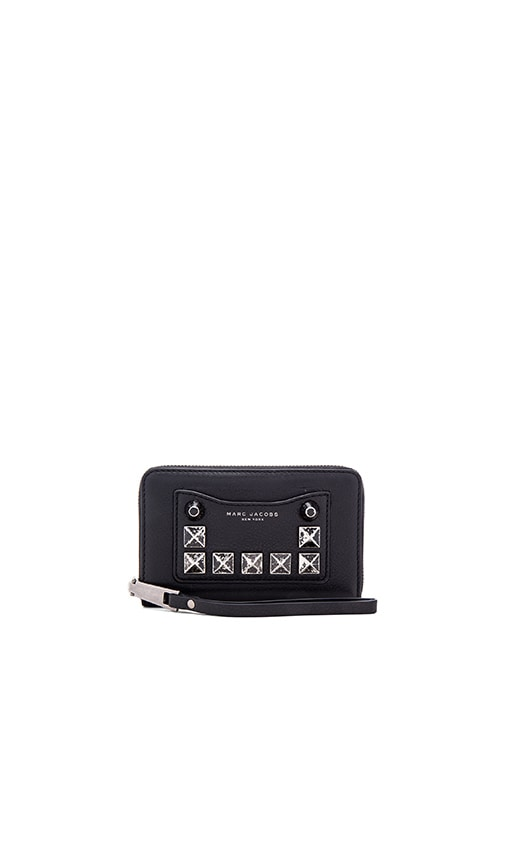 Marc Jacobs Recruit Studs Zip Phone Wristlet