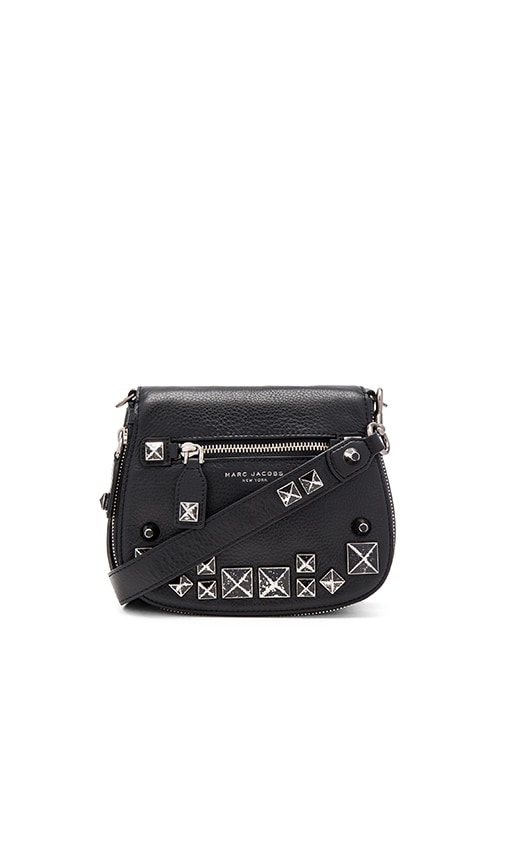 Marc Jacobs Recruit Studs Small Saddle Bag in Black