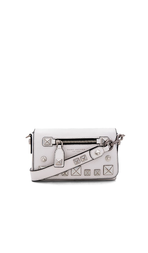 Marc Jacobs Recruit Studs Shoulder Bag in Star White