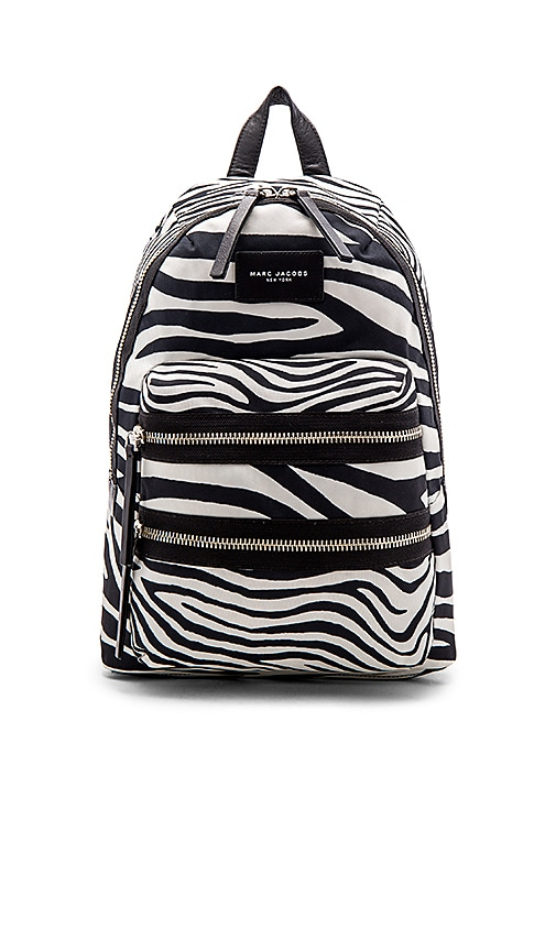 Marc Jacobs Zebra Biker Backpack in Off White multi