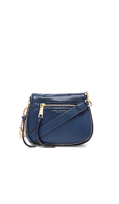 Marc Jacobs Recruit Small Saddle Bag in Navy Blue