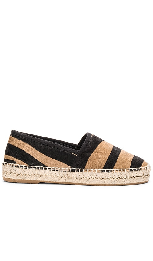 Marc Jacobs Sienna Calf Hair Flat Espadrille in Camel Multi