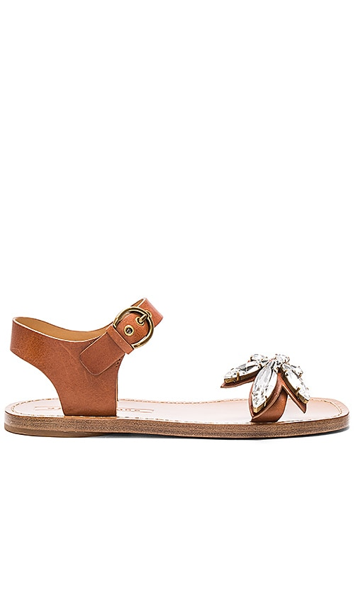 Marc Jacobs Rivington Embellished Sandal in Luggage