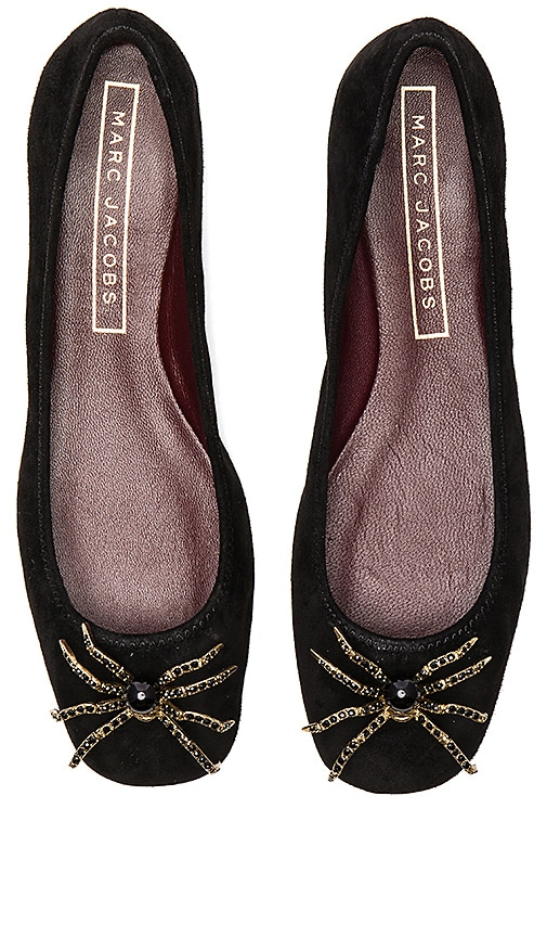 Marc Jacobs Molly Embellished Spider Flat in Black