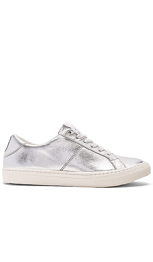 Marc Jacobs Empire Low Top Sneaker in Metallic Silver