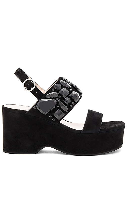 Marc Jacobs Lily Embellished Wedge Sandal in Black
