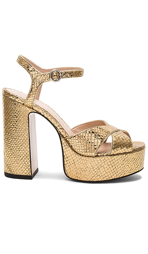 Marc Jacobs Lust Platform in Metallic Gold
