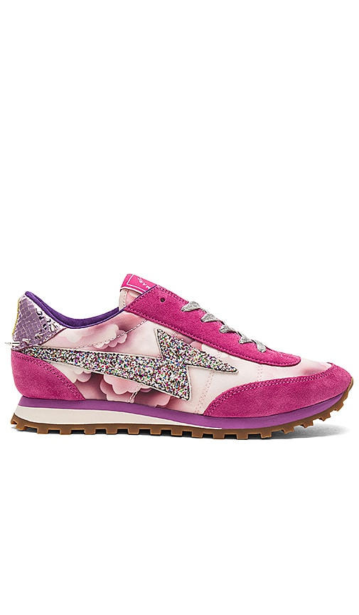 Marc Jacobs Astor Lightning Bolt Sneaker in Fuchsia