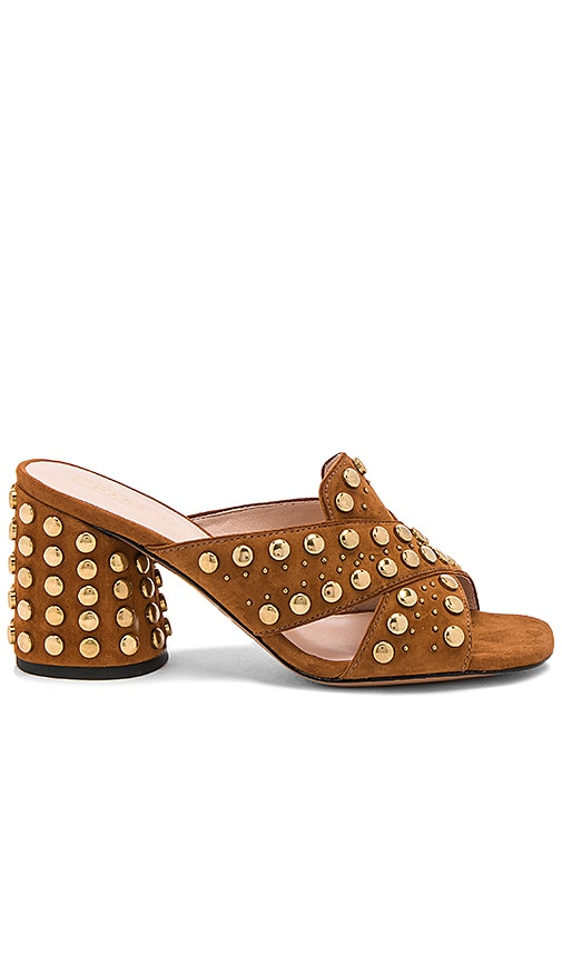 Marc Jacobs Aurora Studded Mule in Cognac