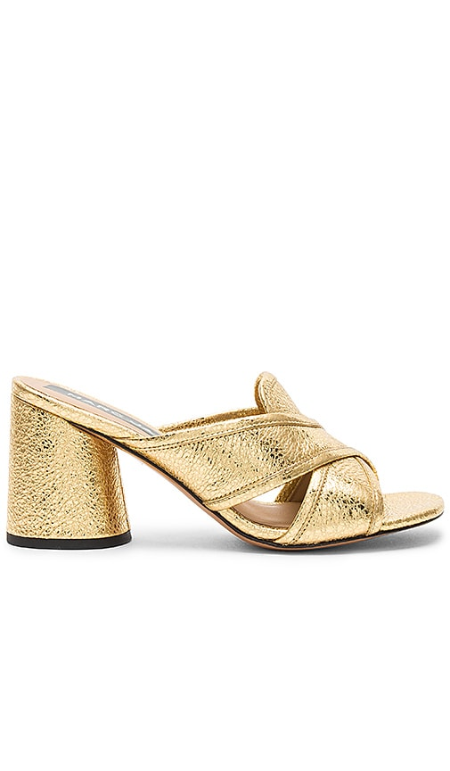 Marc Jacobs Aurora Mule in Metallic Gold