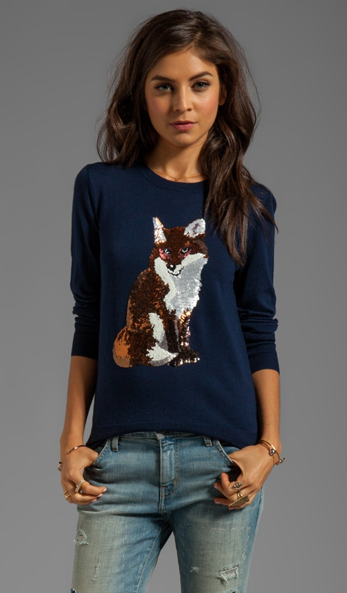 Fox Sequin Sweater