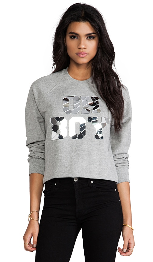Oh Boy Mirror Crop Sweatshirt