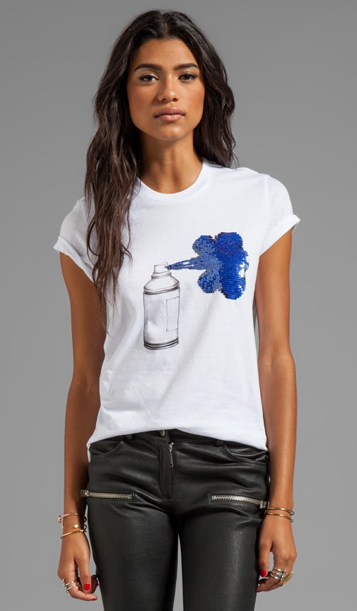 Sequin Spray Can Tee