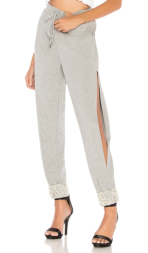 Marled x Olivia Culpo Side Slit Jogger Pant in Gray